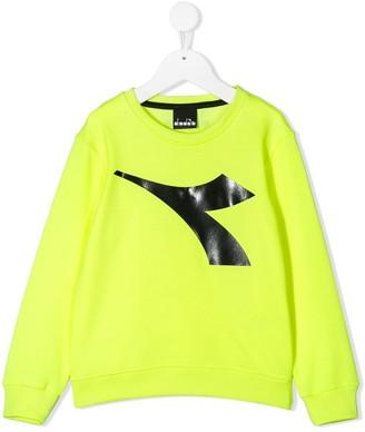 Diadora Junior Logo-Print Relaxed-Fit Sweatshirt