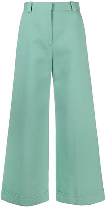 See by Chloe Cropped Wide-Leg Jeans