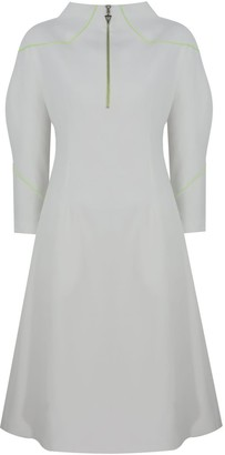 Mirimalist Angle Midi Dress Ecru