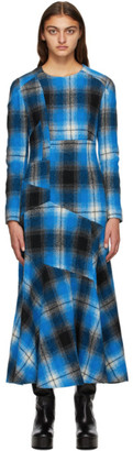 Dries Van Noten Blue Check Dress