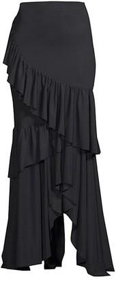 Chiara Boni Leonarda Tiered Ruffle Maxi Skirt