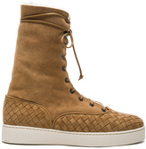 Bottega Veneta Suede Lace Up Boots