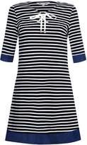 Yumi Stripe Ponte Chambray Tunic Dress