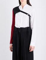 Ann Demeulemeester Lightlaine linen and silk-blend top