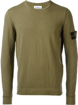Stone Island arm patch jumper - men - Cotton/Polyamide - XL
