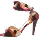 Chanel Printed Velvet Sandals