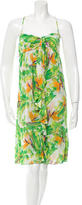 Diane von Furstenberg Floral Print Knee-Length Dress w/ Tags