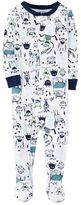 Carter's Baby Boy Monster Footed Pajamas
