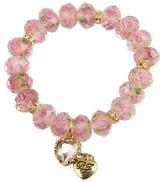 Betsey Johnson Tzarina Pink Beads Stretch Bracelet Bracelet