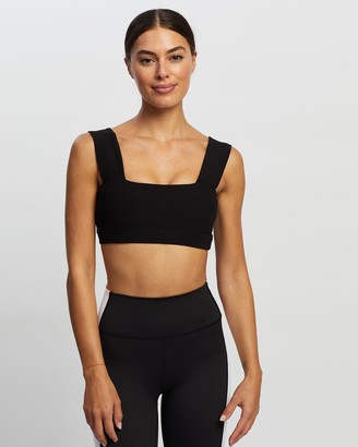All Fenix - Women's Black Sports Bras & Crops - Ribbed Bandeau Sports Bra - Size One Size, XS/6 at The Iconic
