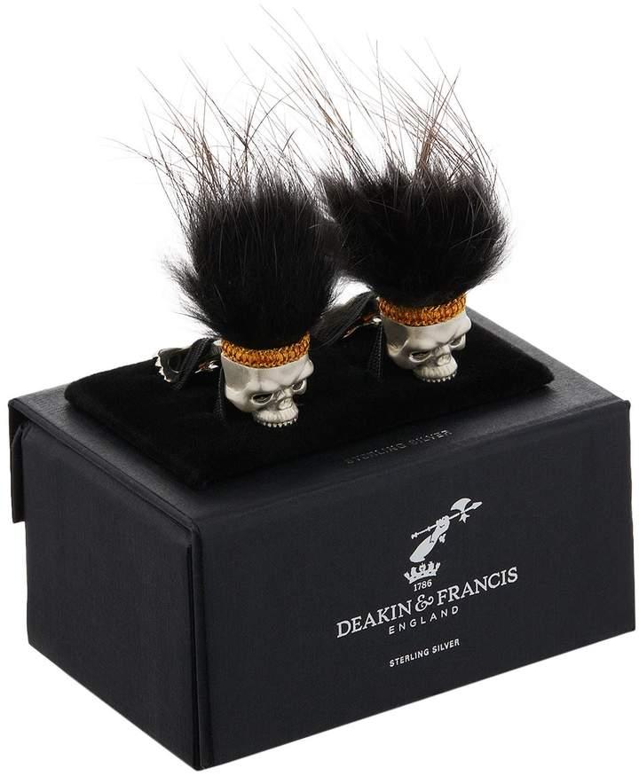 Deakin & Francis Hairy Skull Cufflinks
