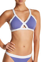 Letarte Colorblock Triangle Bikini Top