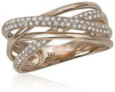 Effy Jewelry Effy Pave Rose 14K Rose Gold Diamond Ring, 0.40 TCW