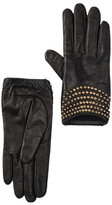 Portolano Leather Studded Short Gloves