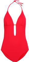 Tory Burch Gemini Cutout Swimsuit - Red