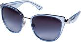 Dolce & Gabbana Transparent Blue/Metal Cat-Eye Gradient Sunglasses