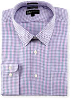 Neiman Marcus Classic-Fit Regular-Finish Micro Dobby Check Dress Shirt, Pink/Blue