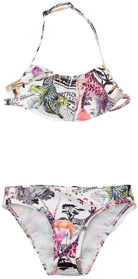 Molo Safari Printed Lycra Bikini W/ Ruffle