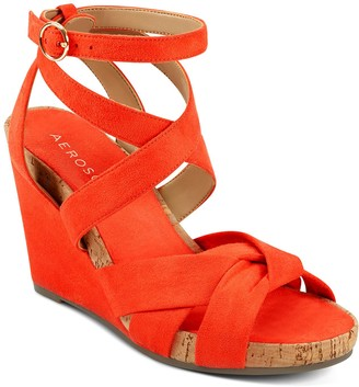 Aerosoles Phoenix Women's Strappy Wedge Sandals