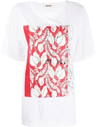 Zucca botanical print T-shirt