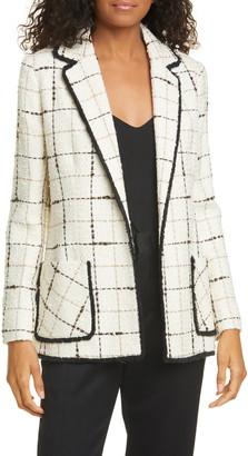 Helene Berman Ete Check Tweed Blazer
