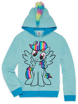 Hasbro Hooded Neck Long Sleeve My Little Pony Blouse - Big Kid Girls