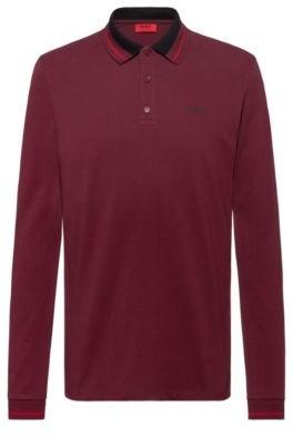 HUGO Regular-fit polo shirt in cotton pique