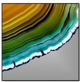 Crystal Art Gallery Orange Teal Agate Print Wall Art