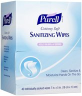Purell Cottony Soft Sanitizing Wipes, Individually Wrapped - 40 ct
