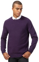Red Herring Big And Tall Purple Textured Jumper