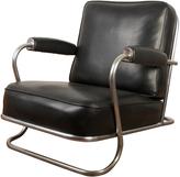 Rejuvenation Tubular Chrome and Black Vinyl Lounge Chair c1950