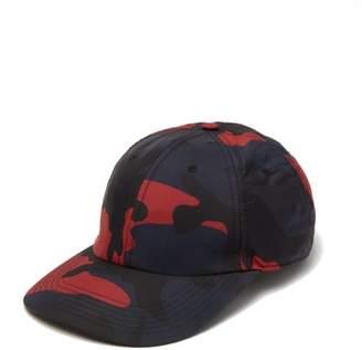 Valentino Camouflage-print Nylon Cap - Mens - Navy Multi