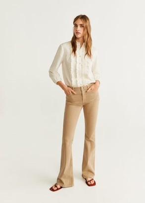 MANGO Flared jeans Flare sand - 1 - Women