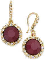 INC International Concepts Gold-Tone Wine Stone and Pavé Drop Earrings, Only at Macy's