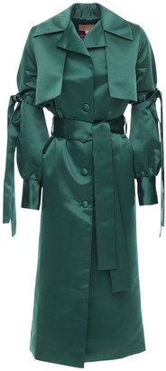 Liya Satin Trench Coat W/ Belt