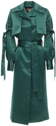 Satin Trench Coat W/ Belt