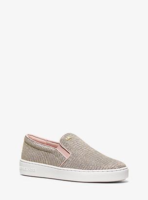 Michael Kors Keaton Chain-Mesh Slip-On Sneaker