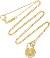 Monica Rich Kosann 18K Gold Diamond Round Lock Charm Necklace