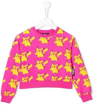 Jeremy Scott Junior Pikachu print cropped sweatshirt