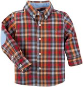 Andy & Evan Check Flannel Shirt (Toddler/Kid) - Brown-3T