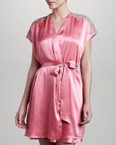 Oscar de la Renta Romantic Treasures Lace-Trim Chemise, Pink