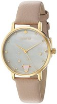 Kate Spade Women's 'Metro' Quartz Stainless Steel and Leather Casual Watch, Color:Grey (Model: KSW1197)