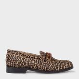 Paul Smith Women's Leopard Print Calf Hair 'Cora' Loafers