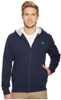 Lacoste Full Zip Hoodie Fleece Sweatshirt (Pitch/Navy Blue) Men's Sweatshirt