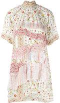 No.21 high neck floral shirt dress - women - Silk - 42