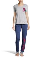 U.S. Polo Assn. Heather Gray & Navy '3' Pajama Set