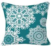 """Deny Designs Deep Turquoise Flurries Throw Pillow (20""""x20"""