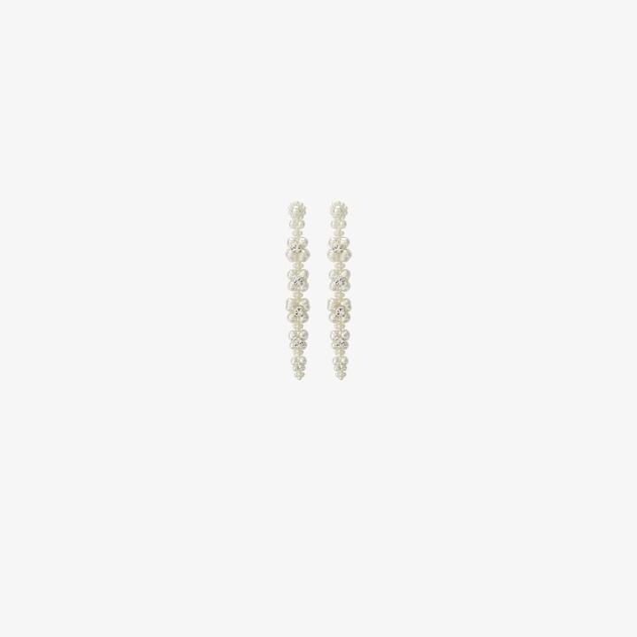 Thumbnail for your product : Simone Rocha White Flower Drop Earrings