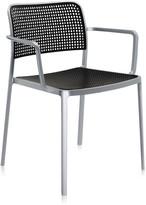 Kartell Audrey Shiny Armchair - Aluminium/Black