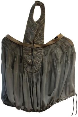 Loewe Turquoise Silk Top for Women Vintage